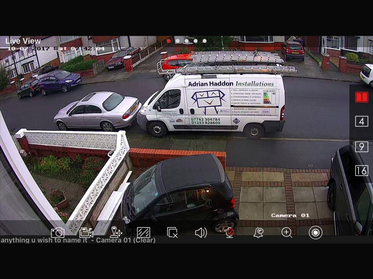 HD CCTV system installed to a domestic Cleveleys property belonging to a tradesman.