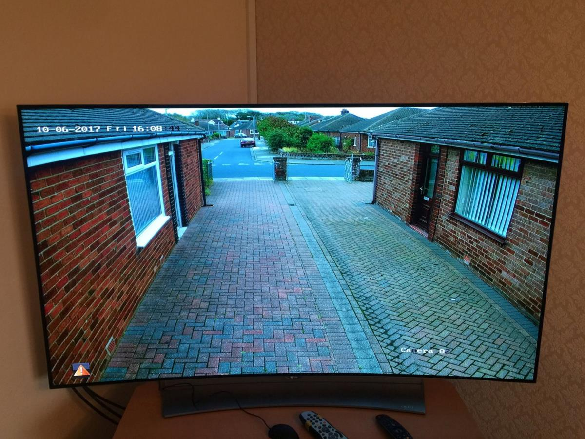 4 of 4 - Screen showing the quality of CCTV recording for Thornton-Cleveleys home.
