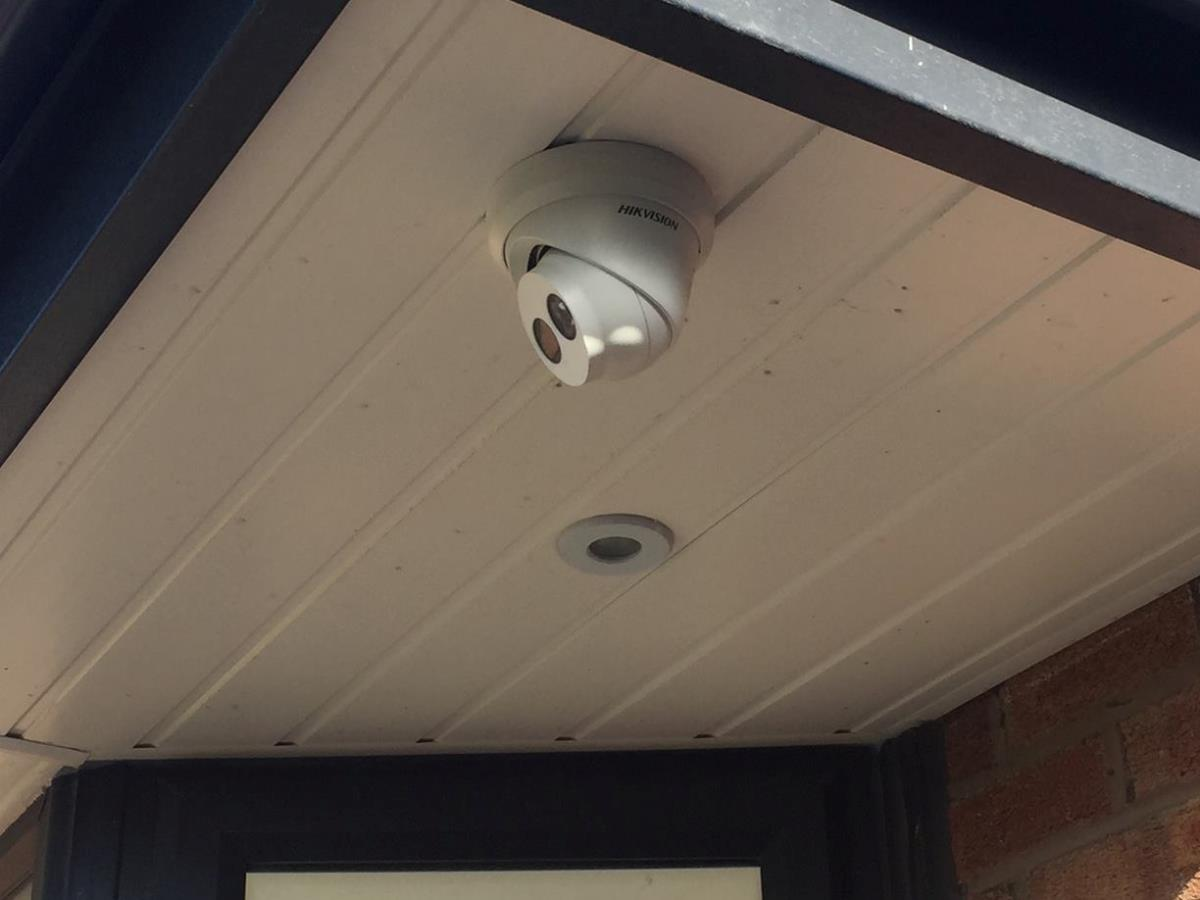 1 of 4 - HD CCTV system front camera for a Thornton-Cleveleys customer.