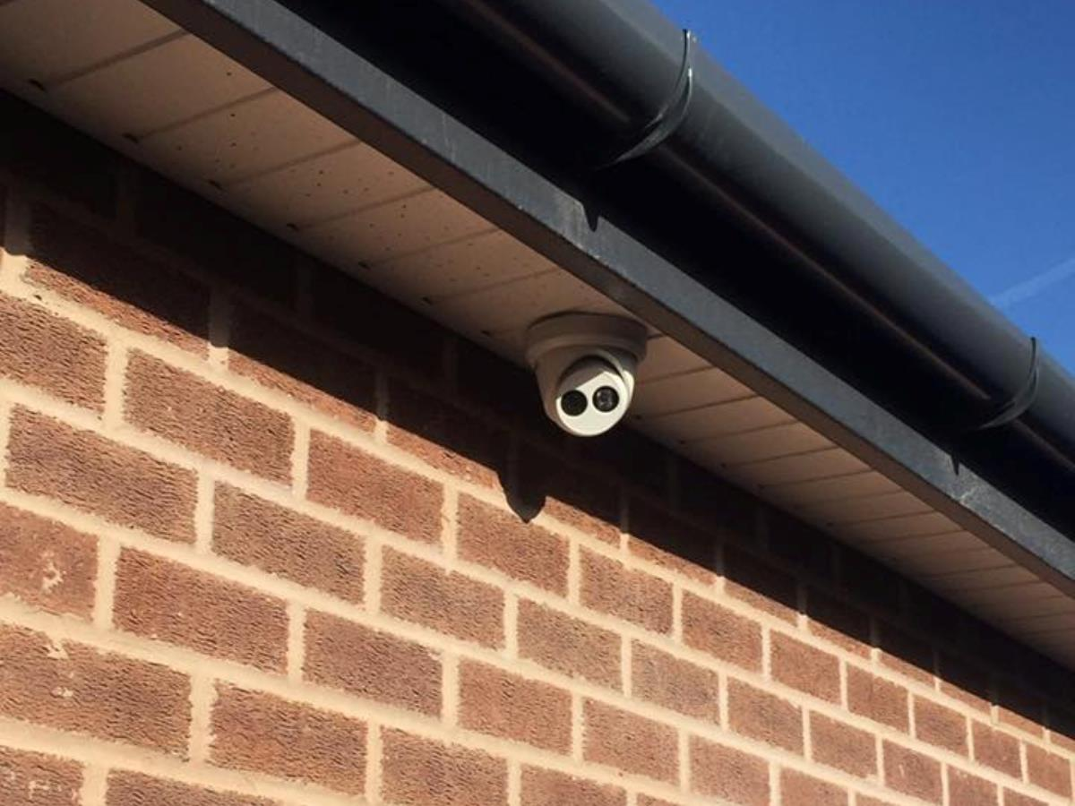 3 of 4 - Side facing CCTV camera covering the driveway and street.
