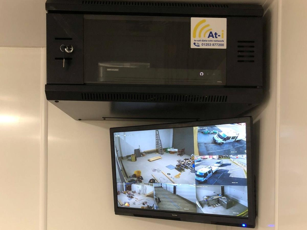 A commercial HD CCTV installation for a business in our home town of Fleetwood.