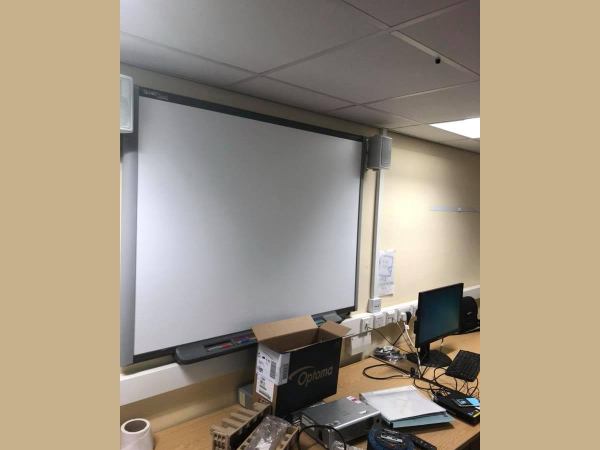 3 of 3 - Existing projection screen at Lancashire County Council building.