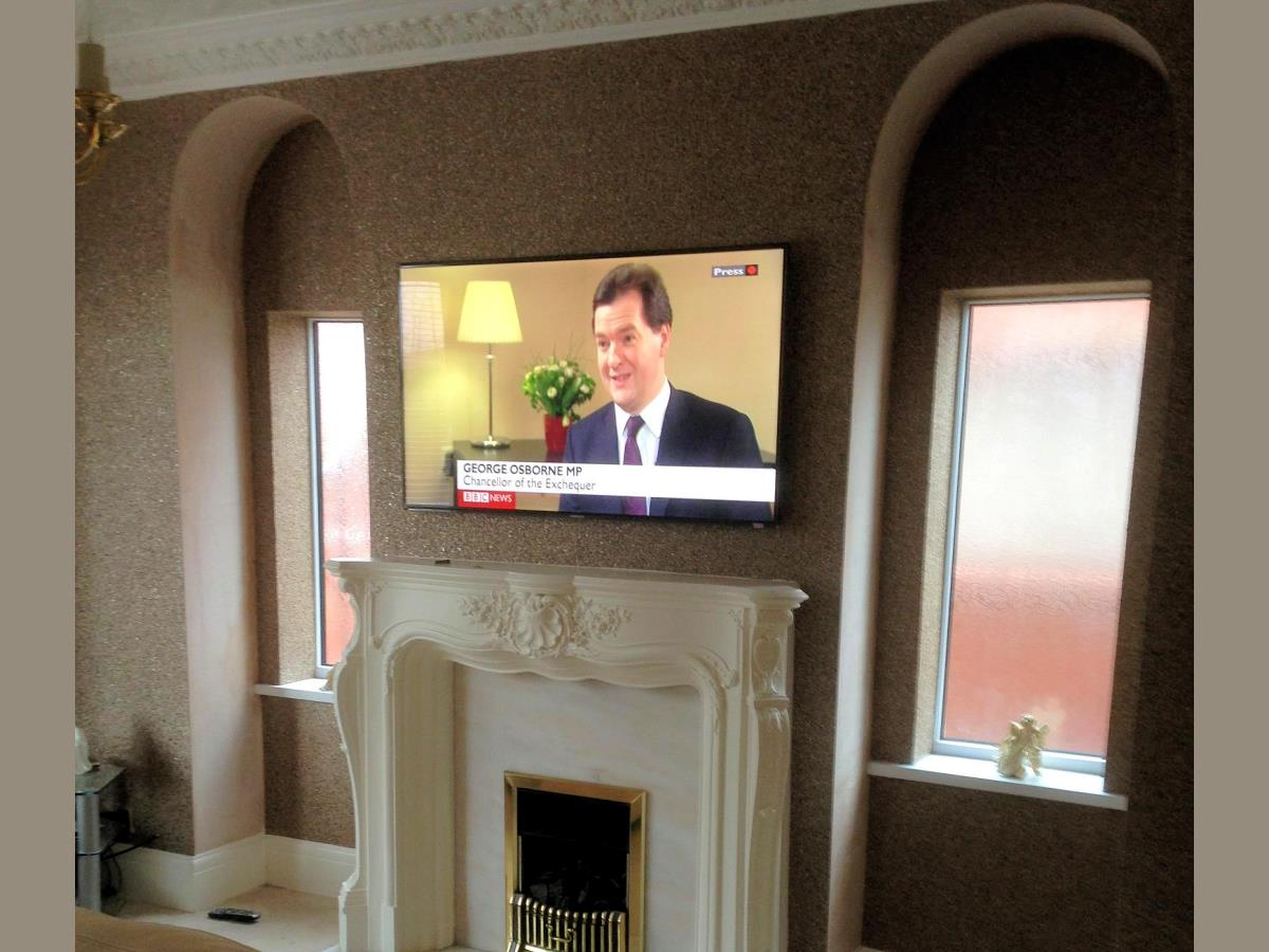 Finished pre-cabling and installation of TV bracket for Blackpool home.